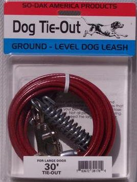 30' Large Dog Tie Out Cable Leash