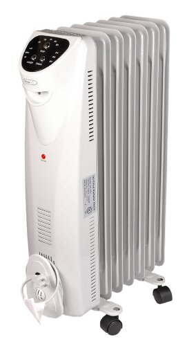NewAir AH-450 Electric Oil-filled Radiator Space Heater With Programmable Thermostat