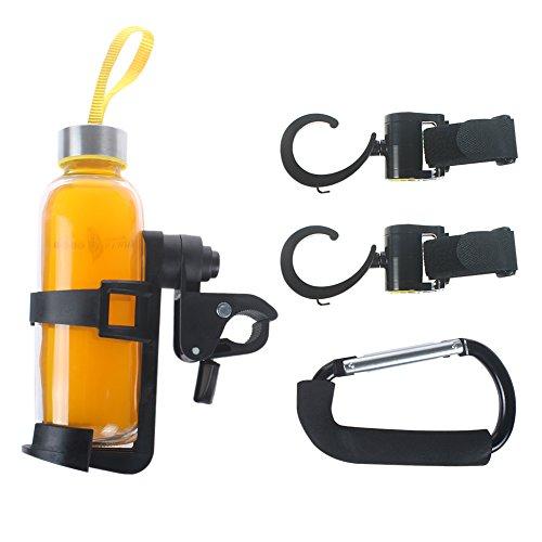 iHome&iLife passeggini portabottiglie carrello passeggino accessori bicicletta sgancio rapido portabicchieri acqua Ganci Moschettone Multiuso per pannolino Set di 3