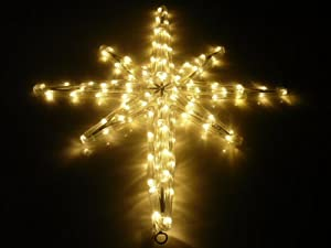 STAR OF BETHLEHEM. WARM WHITE. CHRISTMAS LIGHTS. CHRISTMAS DECORATION YARD SIGN