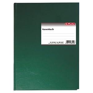 Herlitz 882407 Kassenbuch A4 96 Blatt gebunden und doppelseitig bedruckt