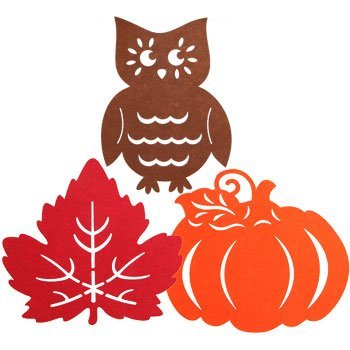 Fall Owl Leaves Leaf Pumpkin Wall Themed Felt Decor Thanksgiving decorations (Easter Bunny Bulletin Board compare prices)