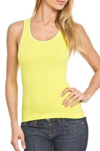 Shosho - Women'S Seamless Rib Tank Tops (Lime)