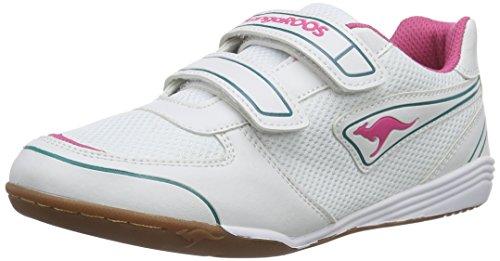 KangaROOSLoa Bang - Scarpe da Ginnastica Basse Bambina, Bianco (Pink (magenta/white/dk smaragd 608)), 29
