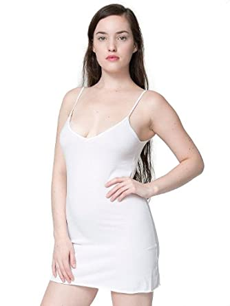 American Apparel Sheer Jersey Chemise - White / XS