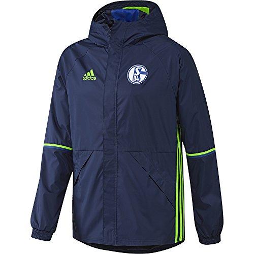 adidas Herren FC Schalke 04 Rain Jacket Regenjacke