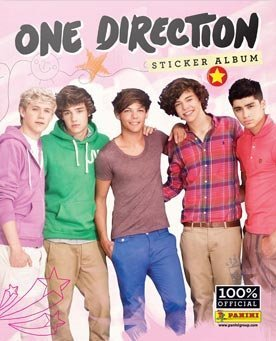 ONE DIRECTION - 32 PAGE COLLECTOR STICKER ALBUM WITH 10 STICKERS - 1