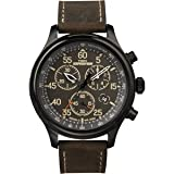 Timex Men's T49905 Expedition Rugged Field Watch with Brown Leather Band