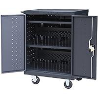 Pearington 30 Bay Tablet/Laptop Charging Cart (Black)