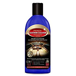 Glacier Leather and Vinyl Cleaner with Conditioner and Bonus Glove for Safe, Deep Cleaning 8 Ounce