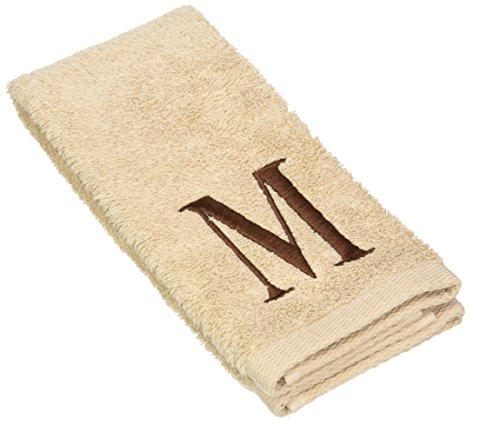 Avanti Premier Linen Block Monogram Fingertip Towel, Initial M, Brown (Avanti Premier Fingertip Towels compare prices)
