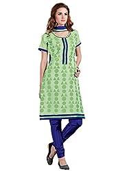 Parisha Chanderi Silk Light Green Women's Chudidar Suit 4ASG5615