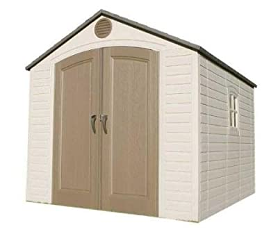 60018 Brighton Lifetime 8 X 10 ft Storage Shed Added Value: 1 - 90in Shelf, 6 Corner Shelves, 2-pk Peg Strips