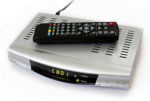 Regno Unito HDMI 1080P Ricevitore sintonizzatore TV digitale terrestre Set Top decoder terrestre e Multi Media Player e calendario tempo Registratore per passaggio scatola convertitore USB e SD Registratore Stile PVR TV con HDMI e uscita scart DVB-T 1anno garanzia di sostituzione qualunque cosa accada (inclusa con cavo Scart)