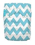 Charlie Banana - Pantalón pañal talla única, con diseño de greca, color azul