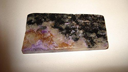 (#5) (**Hot New Item**) 1Pc 6 Gram Charoite Slab Shaped Polished (Both Sides) Crystal Gemstone Specimen (Very Limited Quantity)