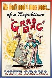 30 x 20 Stretched Canvas Poster Republican Grab Bag