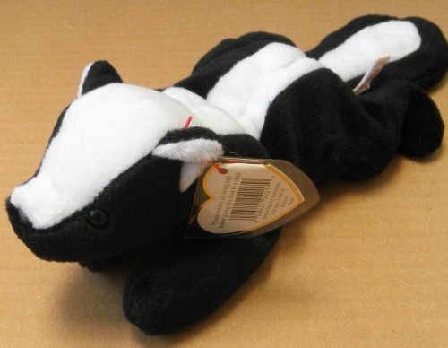 TY Beanie Babies Stinky the Skunk Plush Toy Stuffed Animal - 1