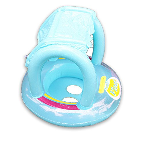 Eonkoo New Sunshade Baby Swimming Pool Tent Inflatable Boat for Toddler Bath Safety Handle Seat Float PVC Round Swim Ring for kids Toy Set