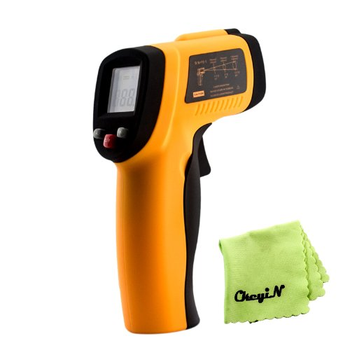 Ckeyin ® Non Contact (Ir) Infrared Thermometer Gun With Laser Targeting (-58~1022°F) And Lcd Display , Instant Temperature Measurements From A Distance For Electrical, Hvac, Automotive Diagnostics, Cooking Etc