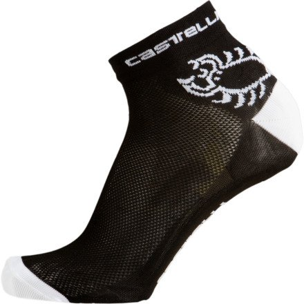 Buy Low Price Castelli 2012 Logo Cycling Sock – Red/White – R7070-023 (B00170C4QU)