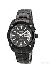 Seiko Men's SRP007 Stainless Steel Analog with Black Dial Watch