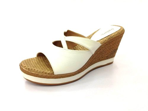 Feathers Women's White Synthetic Wedges