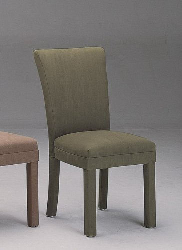 Set of 2 Modern Contemporary Hunter Green Microfiber Parson Dining Chairs