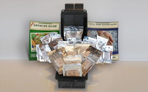 Emergency Seed Bank - Heirloom Emergency Survival Seeds - 23 Varieties - 37000 Seeds