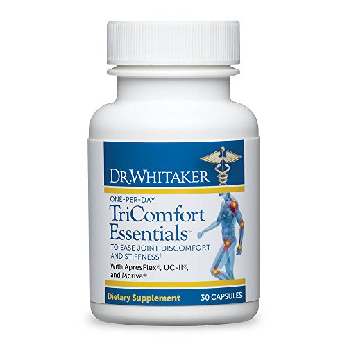 Dr. Whitaker's TriComfort Essentials Joint & Muscle Pain Relief Supplement, 30 capsules (30-day supply) 6 bottles 600pcs omega 3 capsules healthy for cognition heart brain health optimal wellness immune support supplement free ship