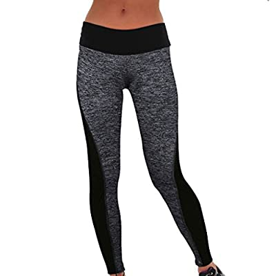 Women YOGA Running Sport Pants High Waist Cropped Leggings Fitness Trousers