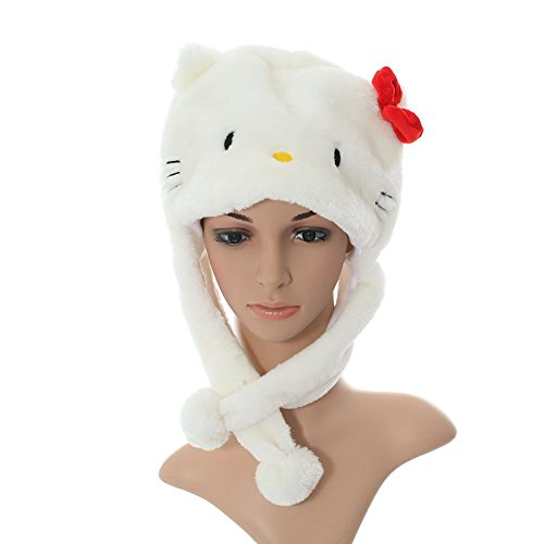 Winter Kitty Aviator Plush Hat (Red Knot)