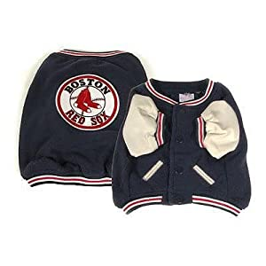 Sporty K9 Boston Red Sox Varsity Dog Jacket, Large