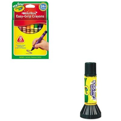 Kitcyo561135Cyo811308 - Value Kit - Crayola My First Washable Triangular Crayons (Cyo811308) And Crayola Washable Glue Stick (Cyo561135) front-996642