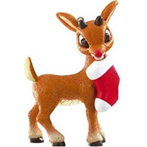 Rudolph the Red Nosed Reindeer Christmas Ornament Rudolph with Stocking