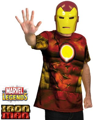 Disguise Inc - Iron Man Shirt And Mask Adult Costume