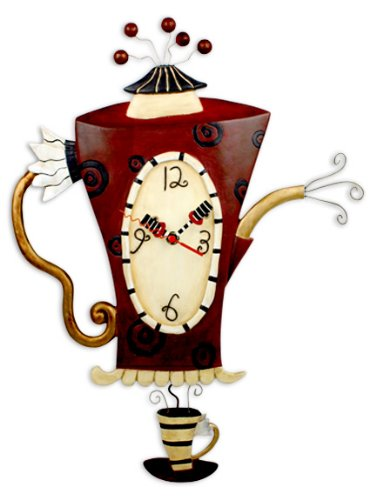 Allen Studio Steamin' Tea and Coffee Pot Wall Clock