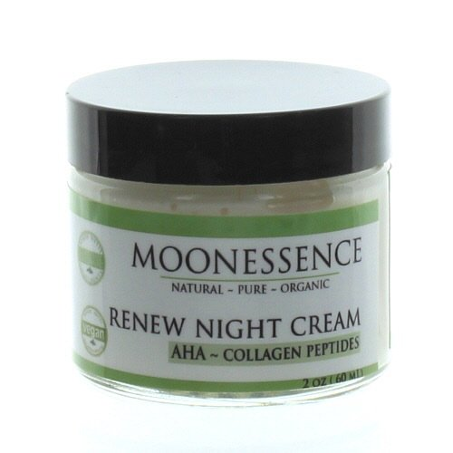 Moonessence Renew Night Cream, Aha with Collagen Peptides, 5 Ounce
