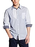 Guess Camisa Hombre Stretch Mixtri (Cielo)