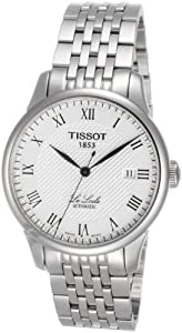 Tissot Men's T41148333 Le Locle Silver Textured White Dial Watch