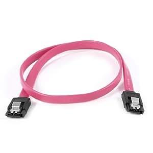 50cm 7 Pins Serial ATA SATA HDD Hard Drive Disk Data Cable Red