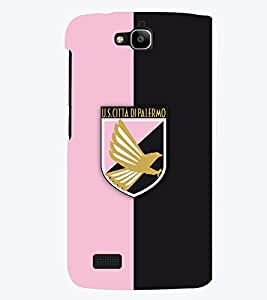TOUCHNER (TN) Pink Black Logo Back Case Cover for Huawei Honor Holly