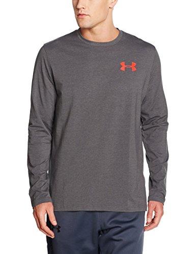 Under Armour Felpa da uomo Fitness UA Vertical WM LS T, Uomo, Fitness Sweatshirt UA VERTICAL WM LS T, grigio, XL
