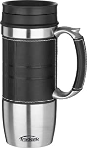 Trudeau Executive Boardroom 16-Ounce Travel Mug, Black