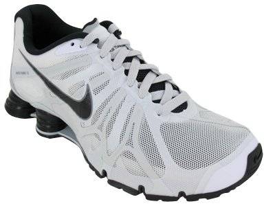 Mens Nike Shox Turbo+ 13 Running Shoes Summit White / Black / Pure Platinum / Grey