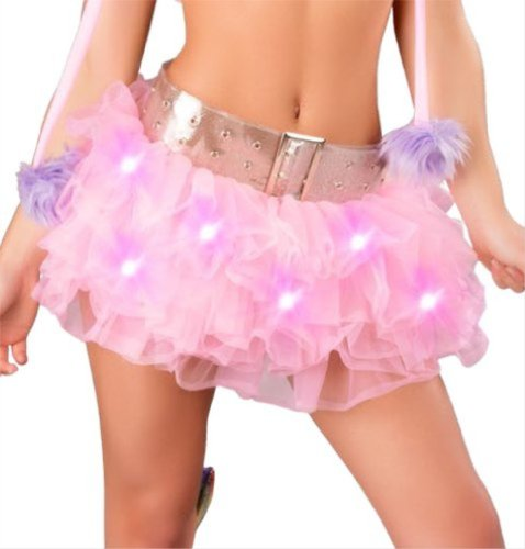 Fairy Light Up Gogo Dancer Tutu (Baby Pink)