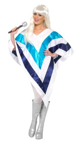 Super Trooper ABBA Cape and Poncho - White/Blue