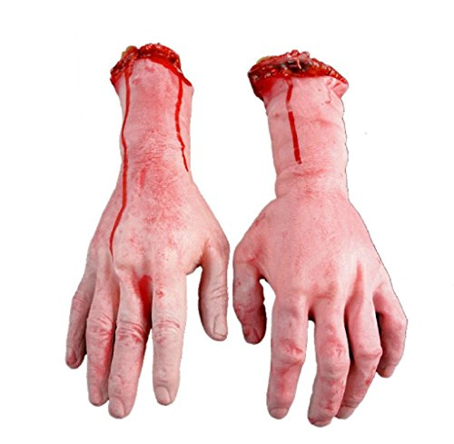 Gillberry Human Arm Hand Bloody Dead Body Parts Haunted House Halloween Prop (right)