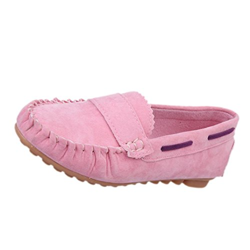 Tenworld Women Casual Shoes Slip On Comfort Shoes Flat Shoes Loafers (7, Pink)