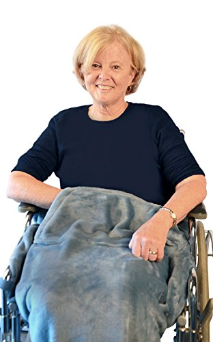 Granny Jo Products 1405 Lightweight Wheelchair Blanket, Wedgwood Blue